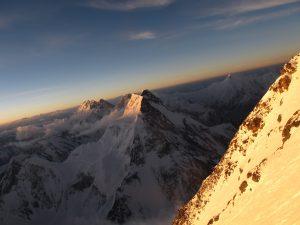Foto del Broad Peak, vist en el descens del K2