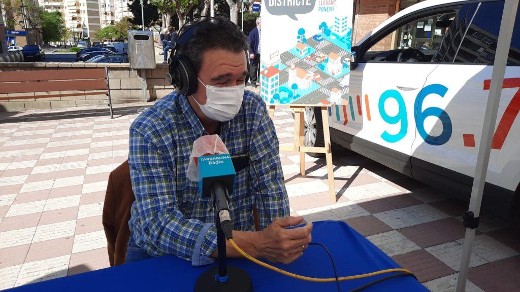gabriel muniesa durant l'entrevista amb tarragona ràdio