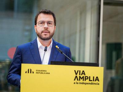 El vicepresident en funcions de president, Pere Aragonès