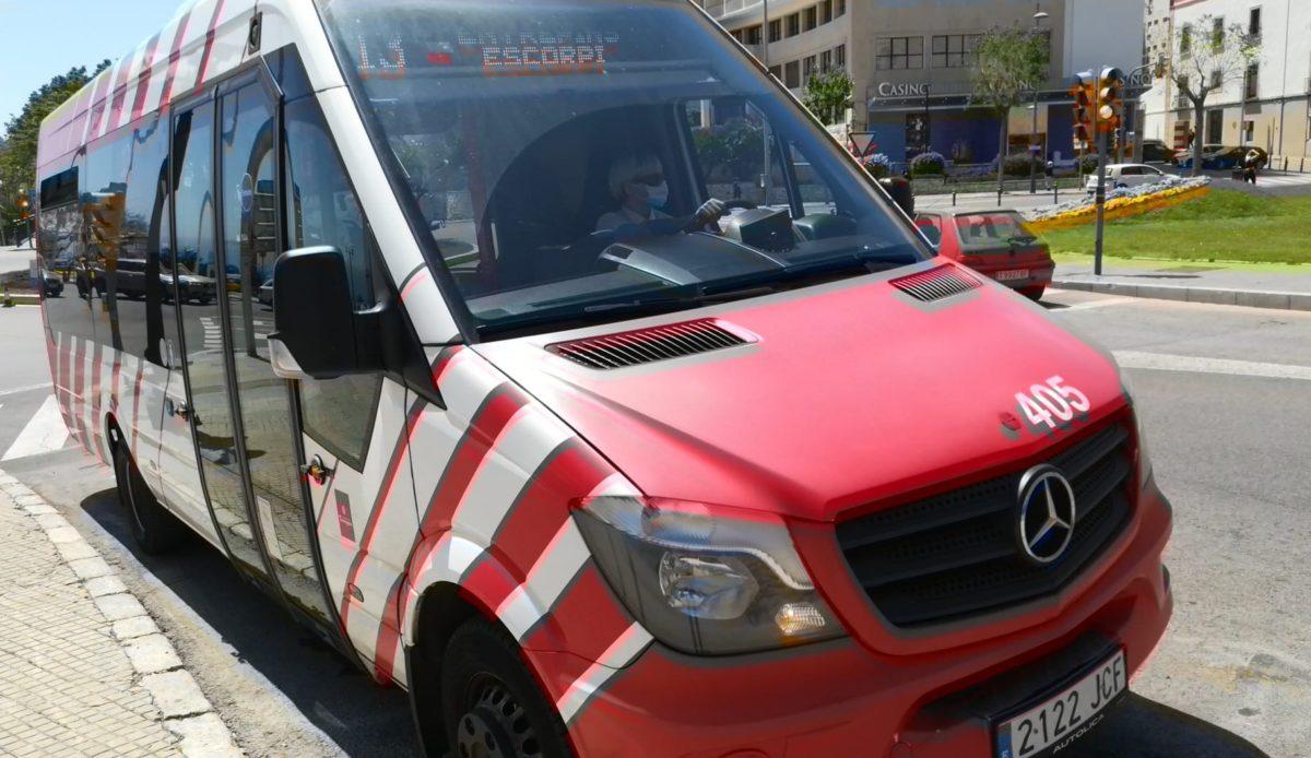 Vehicle de la L13 de l'EMT