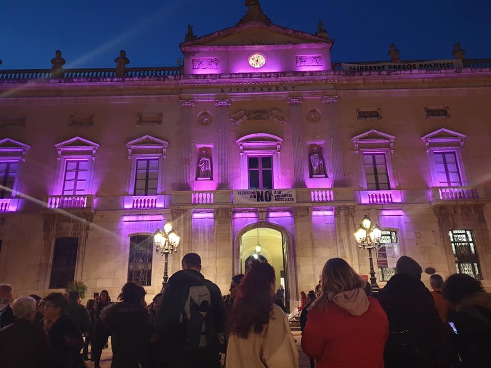 Imatge d'arxiu d'un dels actes en el marc del Dia Internacional per a l'eliminació de la violència envers les dones a Tarragona. Foto: cedida.