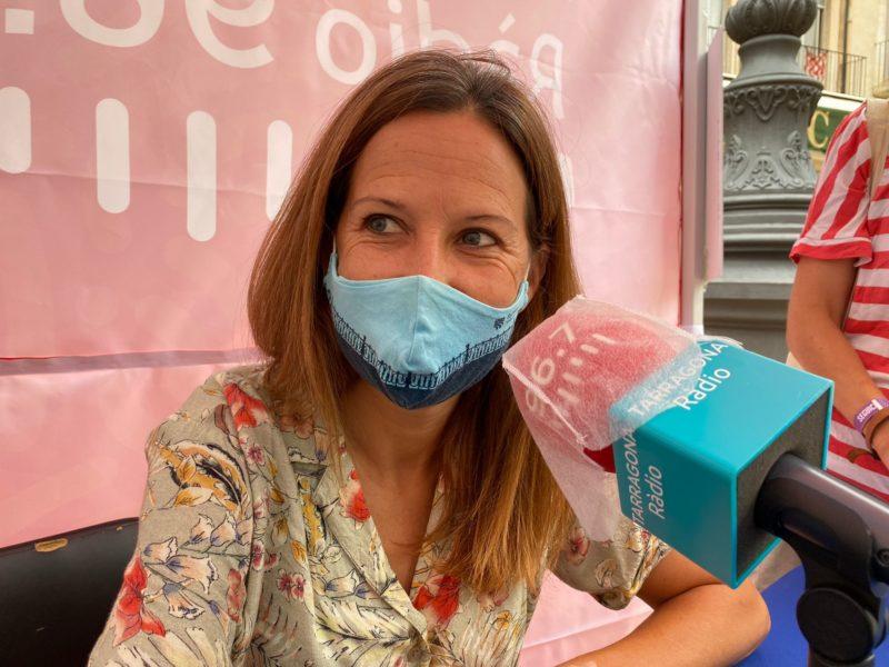 Inés Solé ha passat aquest dimecres per l'estand de la Ràdio de les Festes.