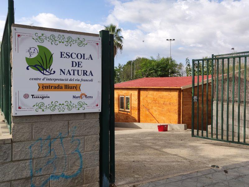 Escola de Natura Francolí cartell entrada