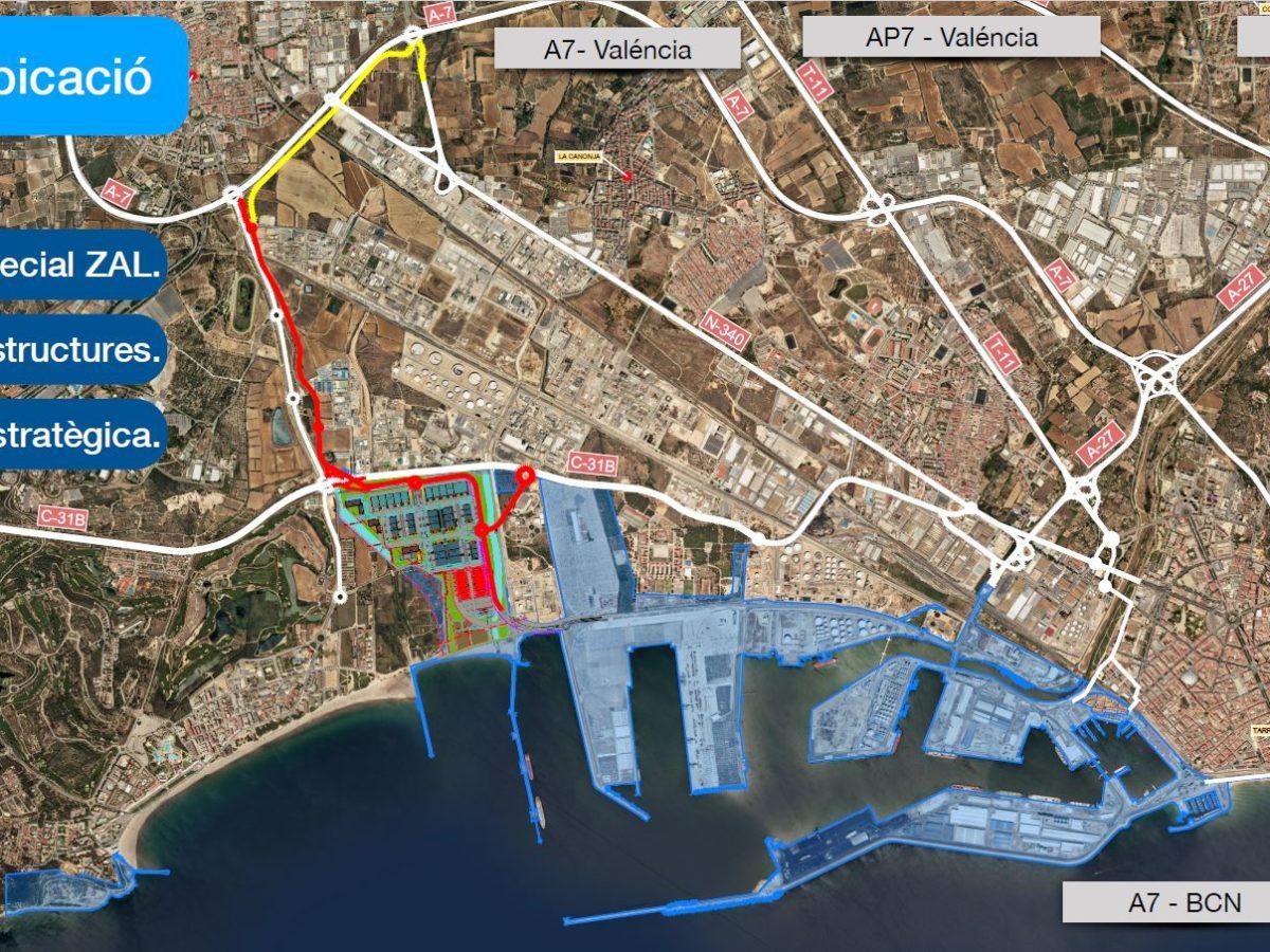 La futura ZAL del Port de Tarragona té una superfície de 92 hectàrees.