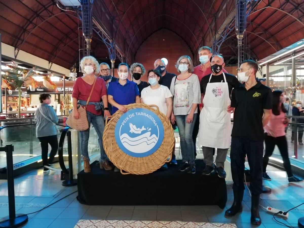 Imatge de la roda de premsa de presentació de la campanya en un acte al Mercat.